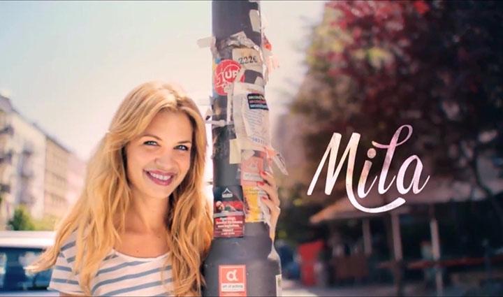 Fernsehserie Mila-Vorspannbild Mila an Laterne